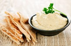 Hummus is a delicious snack