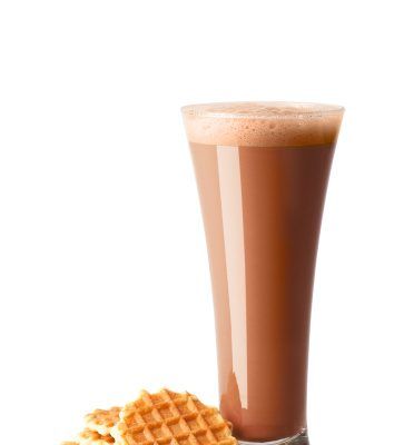 Enjoy a chocolate shake!