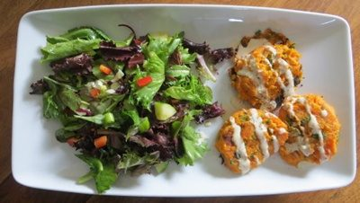 Sweet Potato Patties with Tahini