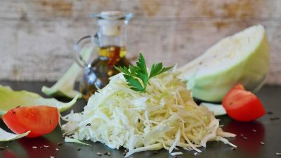 Sesame Lime Cabbage Salad