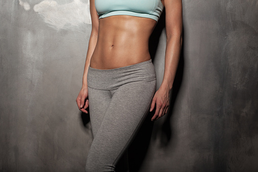 Heidi Powell, abs are made in the kitchen