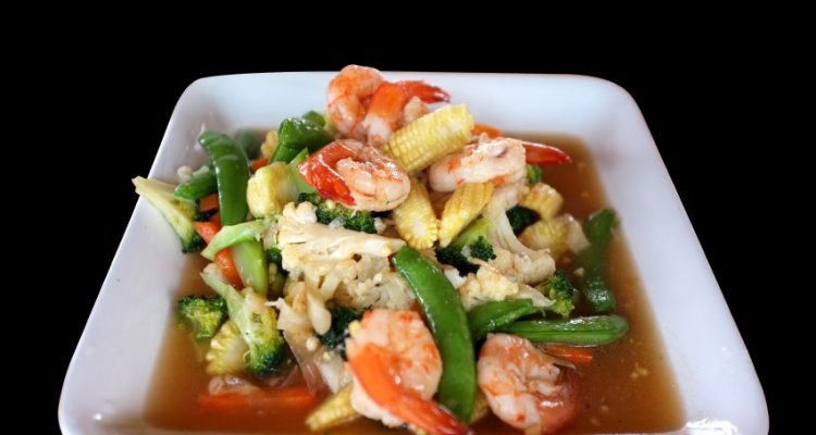 cauliflower mixed vegetables and shrimp