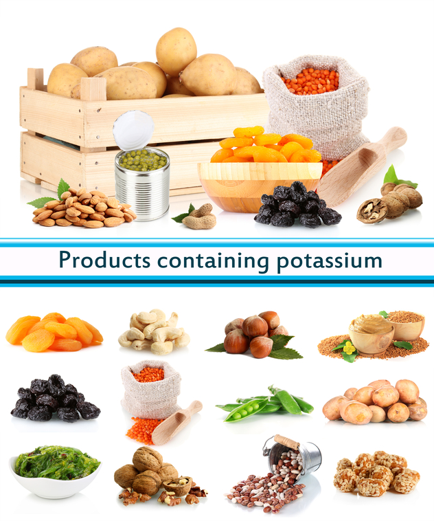 Products containing potassium