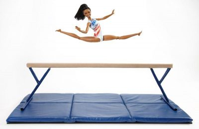 Gabby Douglas with her new action figure