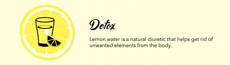 Drinking lemon water before bed helps detox